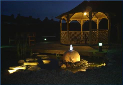 eclairage terrasse et bassin