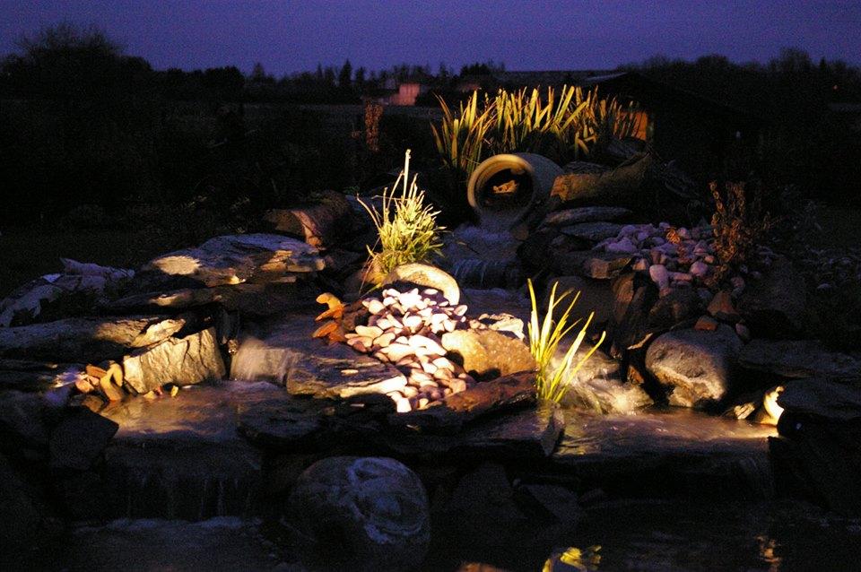 eclairage bassin spot