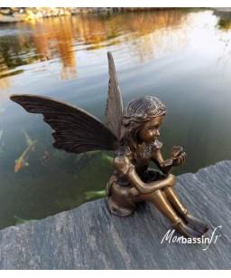 statue jardin - fée rêveuse