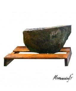 fontaine - pierre naturelle - scié - percé