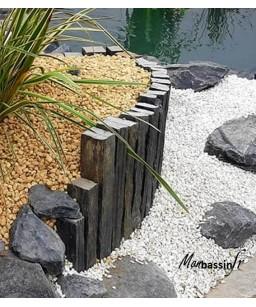 barre ardoise - pierre muret paysagé