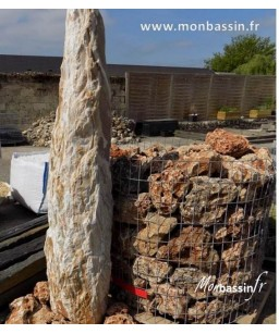 menhir - jardin - rocaille