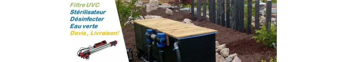 Uv-c basin filters