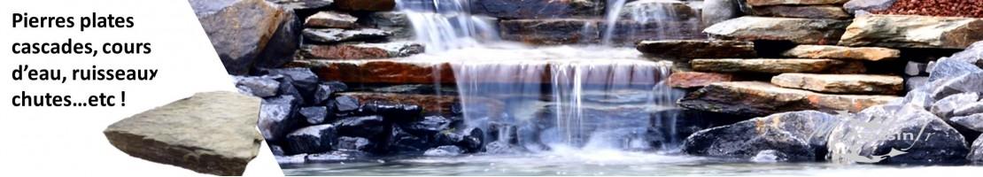 waterfall flat stones