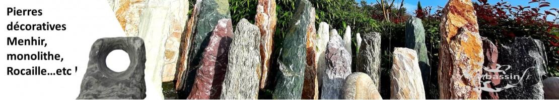 Grandes pierres de jardin