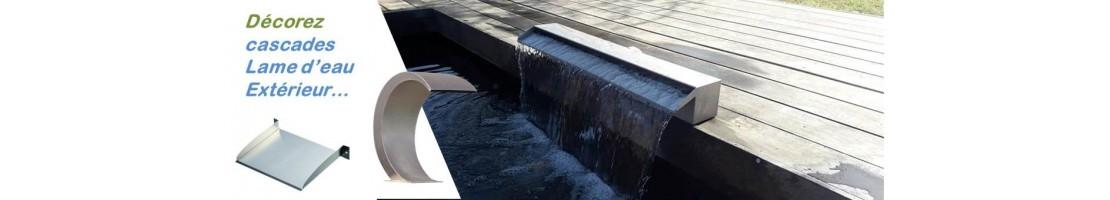 Fontaine et jets eau